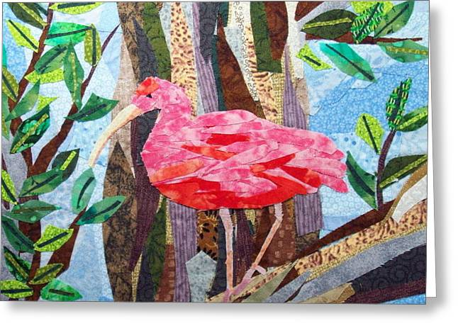Pretty in Pink Greeting Card by Charlene White