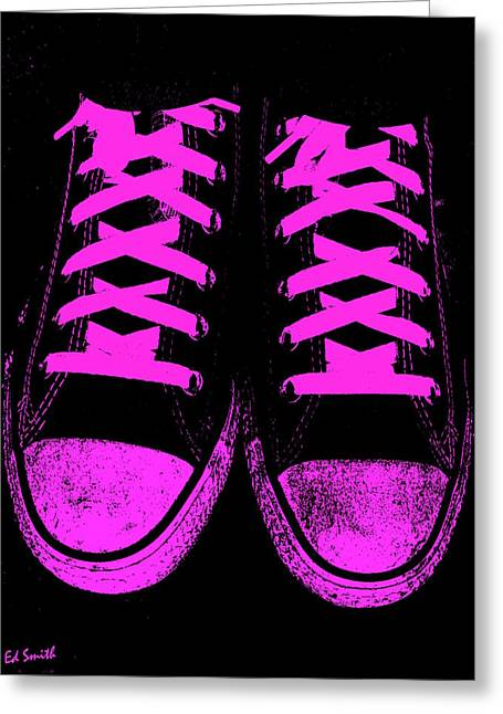 Jogging Greeting Cards - Pretty In Pink Greeting Card by Ed Smith