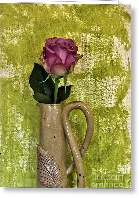 Hand Made Greeting Cards - Pretty Pink Petals Greeting Card by Marsha Heiken