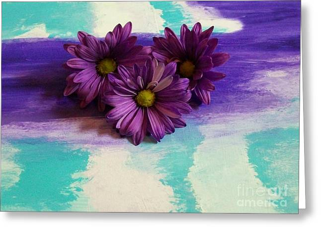 Floral Photos Mixed Media Greeting Cards - Pretty Purple Ladies Greeting Card by Marsha Heiken