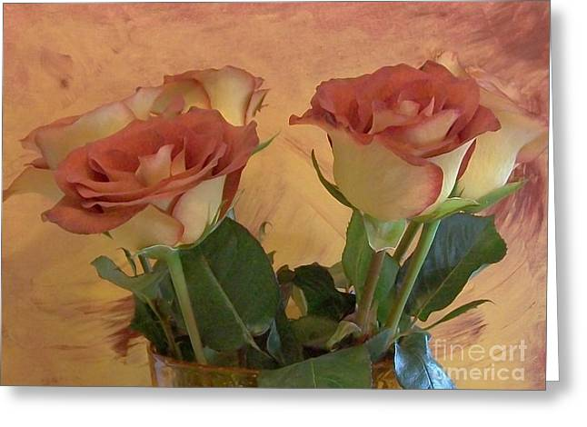 Photos With Red Photographs Greeting Cards - Pretty Roses Greeting Card by Marsha Heiken