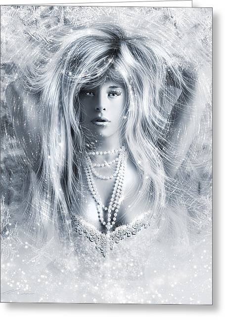 Real Face Greeting Cards - Pretty Storm Greeting Card by Svetlana Sewell