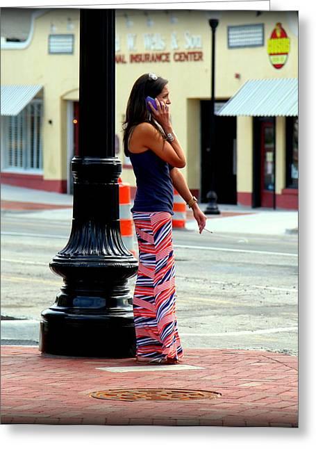 Pretty Woman Greeting Card by Karen Wiles