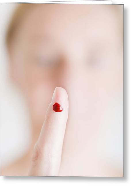Prick Greeting Cards - Pricked Finger Greeting Card by Cristina Pedrazzini