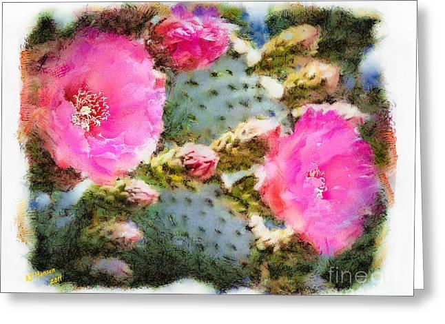 Arne J Hansen Greeting Cards - Prickly Pear Greeting Card by Arne Hansen