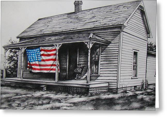 4th July Mixed Media Greeting Cards - Pride Greeting Card by Michael Lee Summers