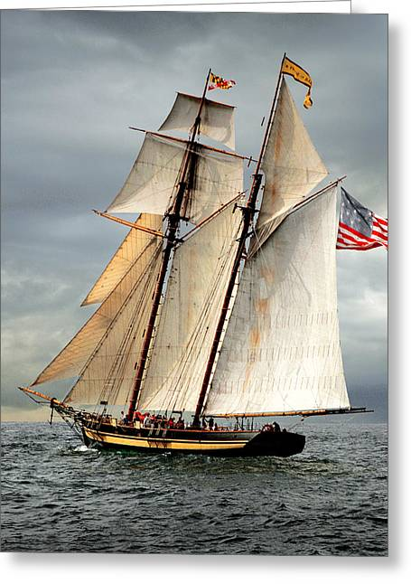 Schooner Greeting Cards - Pride of Baltimore II Greeting Card by Fred LeBlanc