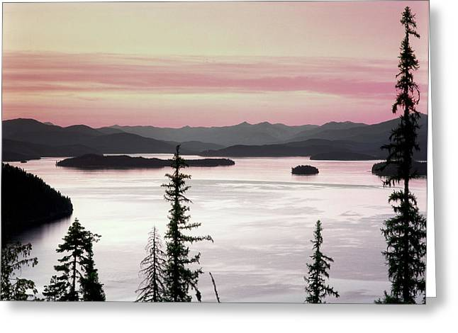 North Idaho Greeting Cards - Priest Lake Greeting Card by Leland D Howard
