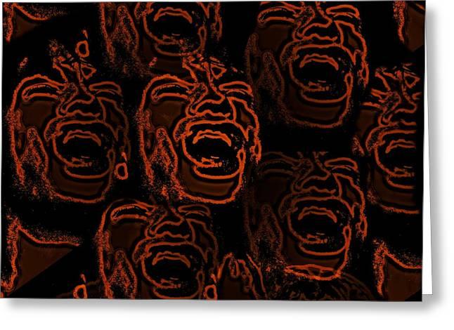 Shout Greeting Cards - Primal Screams  Greeting Card by David Dehner