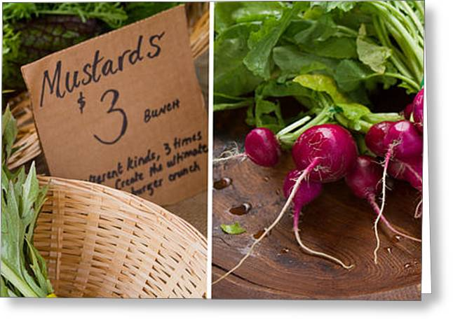 Radishes Greeting Cards - Primary Colors On Your Plate Greeting Card by Rebecca Cozart