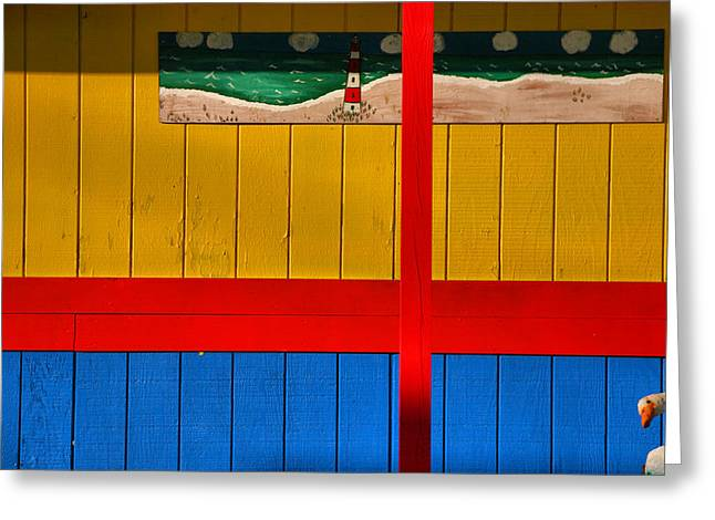Main Street Greeting Cards - Primary Colors Greeting Card by Steven Ainsworth