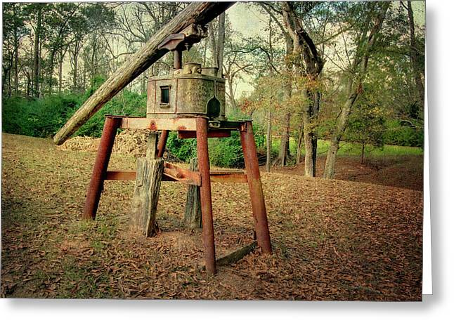 Primitive Sugar Cane Mill Greeting Card by Tamyra Ayles