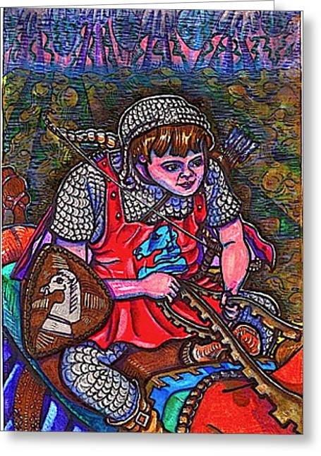 The Restricted Greeting Cards - Prince Aaron Greeting Card by Al Goldfarb