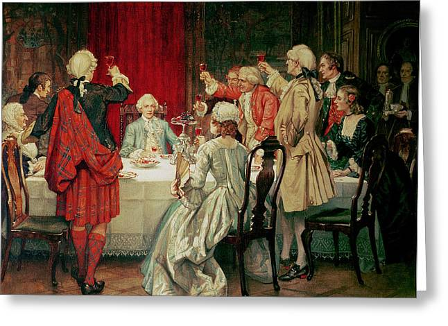 18th Century Greeting Cards - Prince Charles Edward Stuart in Edinburgh Greeting Card by William Brassey Hole