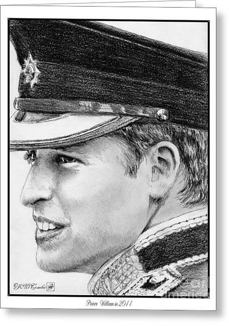 Mccombie Greeting Cards - Prince William in 2011 Greeting Card by J McCombie