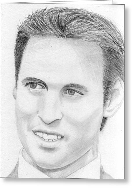 William And Kate Greeting Cards - Prince William Greeting Card by Pat Moore