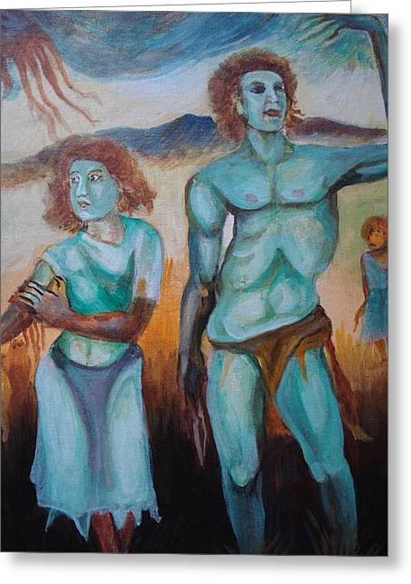 Prasenjit Dhar Paintings Greeting Cards - Princes and Zeus Greeting Card by Prasenjit Dhar