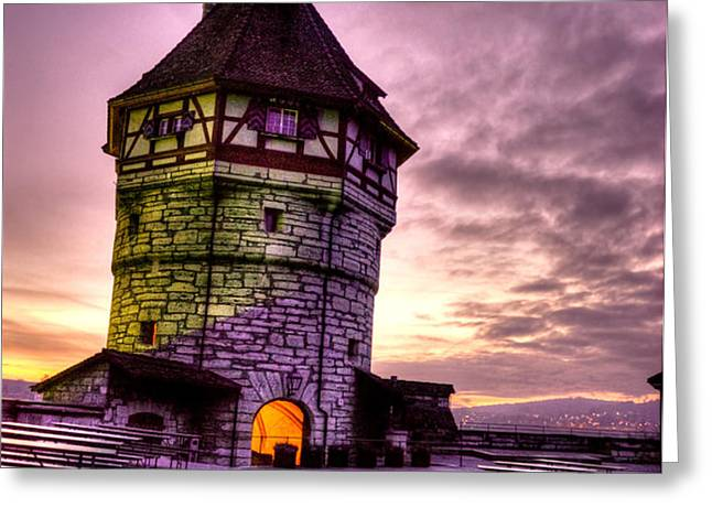 Princes Tower Greeting Card by Syed Aqueel