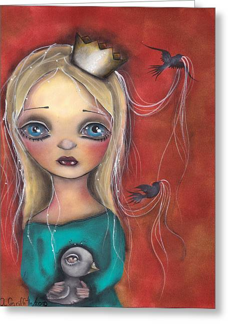Princess Mixed Media Greeting Cards - Princesa Fabiola Greeting Card by  Abril Andrade Griffith