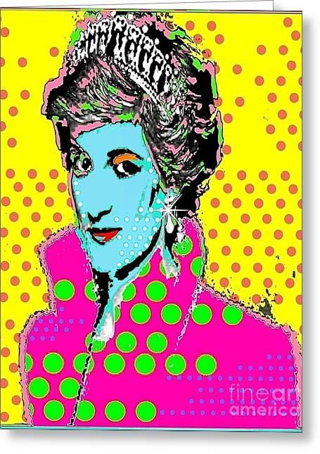 Royal Family Arts Digital Art Greeting Cards - Princess Di Greeting Card by Ricky Sencion