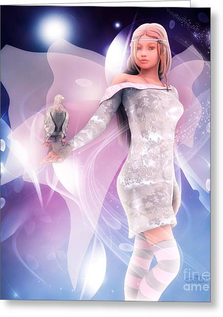 Postwork Greeting Cards - Princess Fairy Greeting Card by Jutta Maria Pusl