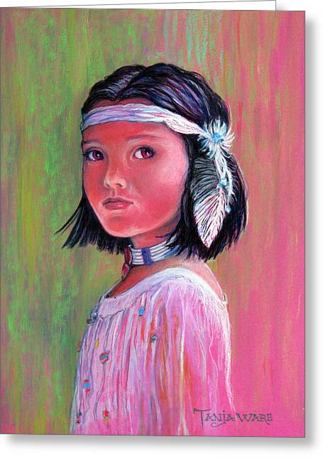 Native American Girl Greeting Cards - Princess of the Plains Greeting Card by Tanja Ware