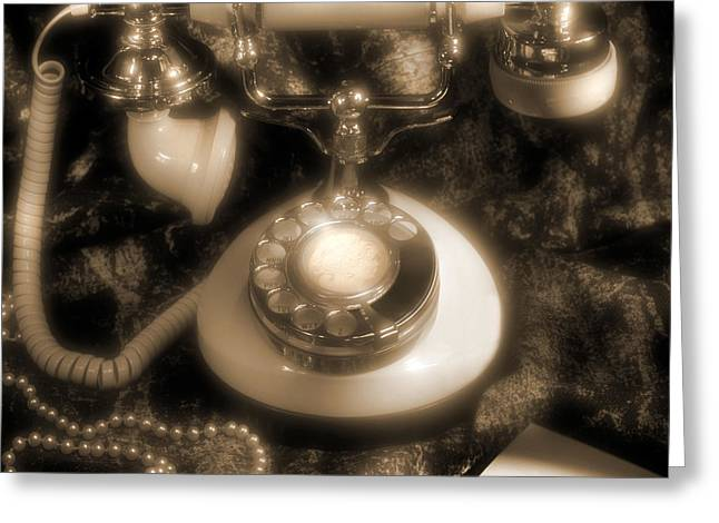 Pearl Necklace Greeting Cards - Princess Phone Greeting Card by Mike McGlothlen