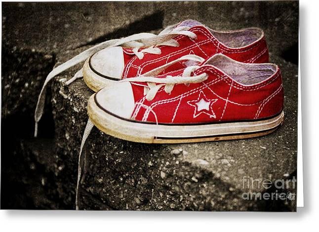Tennis Star Greeting Cards - Princess Shoes Greeting Card by Scott Pellegrin