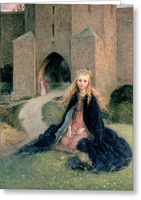 Castle Gates Greeting Cards - Princess with a spindle Greeting Card by Hanna Pauli