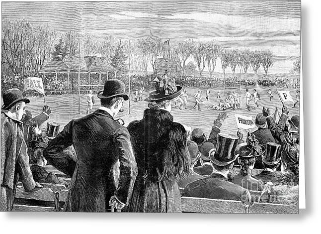 Oval Photographs Greeting Cards - Princeton Vs. Yale, 1889 Greeting Card by Granger