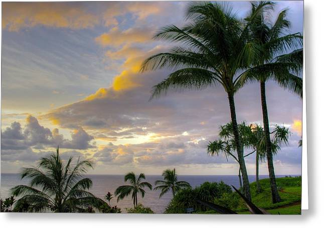 Princeville Sunset Greeting Card by John  Greaves