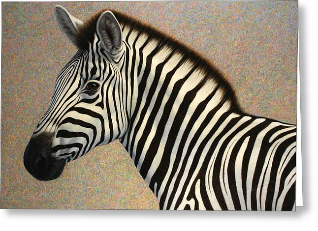 Zebra Greeting Cards - Principled Greeting Card by James W Johnson
