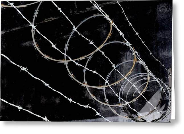 Detention Greeting Cards - Prison By Night Greeting Card by Randall Weidner