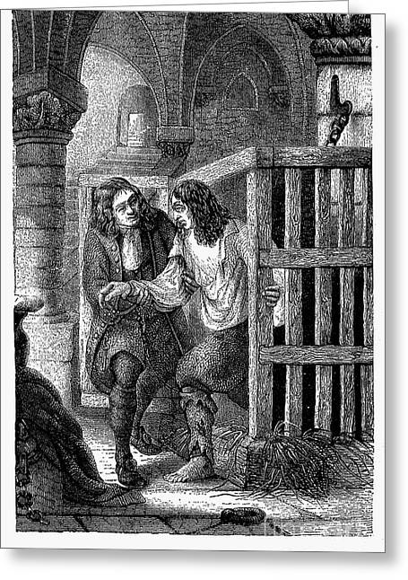 Dungeons Greeting Cards - PRISON: CAGE, 17th CENTURY Greeting Card by Granger