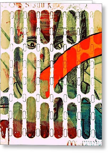 Stonewall Mixed Media Greeting Cards - Prison Nr.2 Greeting Card by Franziska Kolbe
