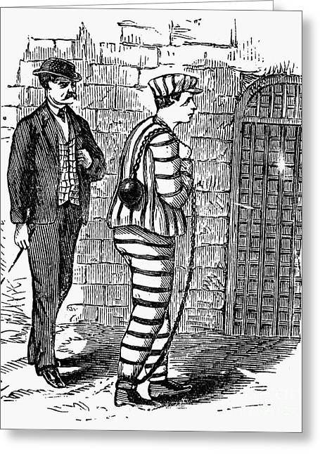 Prison Stripes Greeting Cards - Prison: The Tombs Greeting Card by Granger