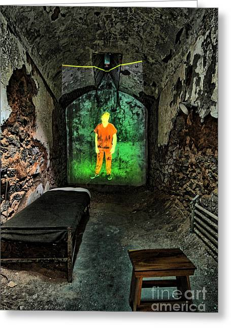 Eastern State Greeting Cards - Prisoner of the Soul Greeting Card by Andrew Paranavitana