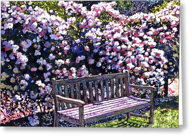 Patio Greeting Cards - Private Garden Greeting Card by David Lloyd Glover