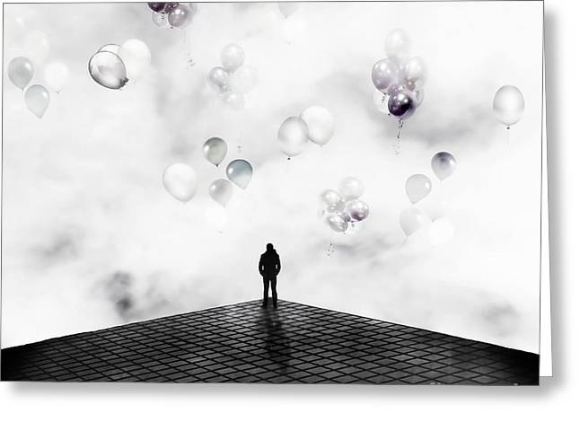 Conceptual Digital Art Greeting Cards - Private Party Greeting Card by Photodream Art