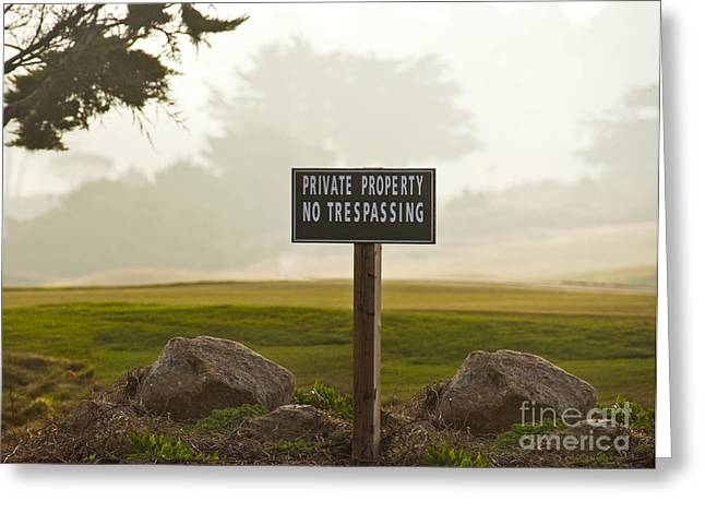 Private Property No Trespassing Sign Greeting Card by David Buffington