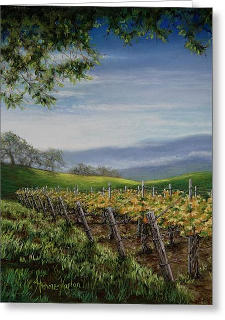 California Vineyard Pastels Greeting Cards - Private Selection Greeting Card by Denise Horne-Kaplan