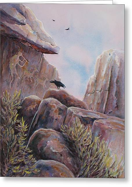 Kokopeli Greeting Cards - Processional Greeting Card by Don Trout