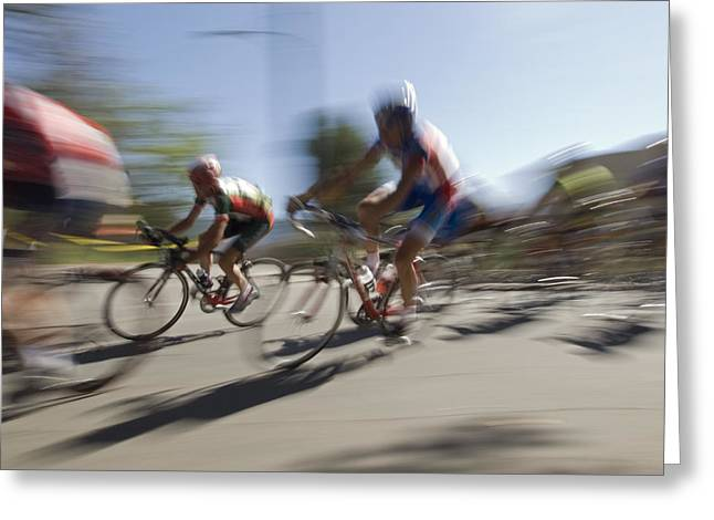 Fundraiser Greeting Cards - Professional Bike Riders Greeting Card by Rich Reid