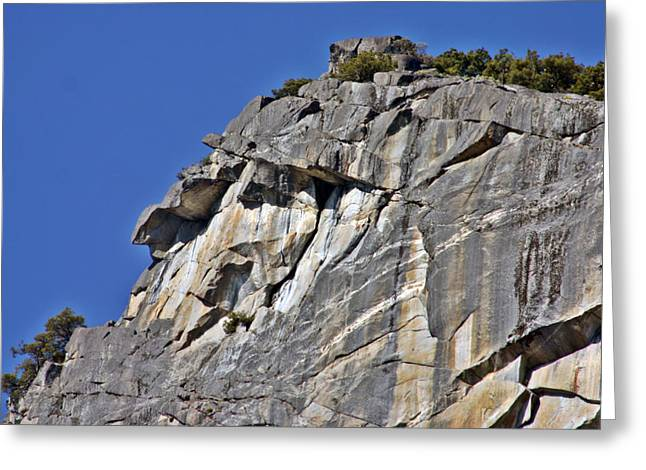 Face In Profile Greeting Cards - Profile in Granite Greeting Card by Duncan Pearson