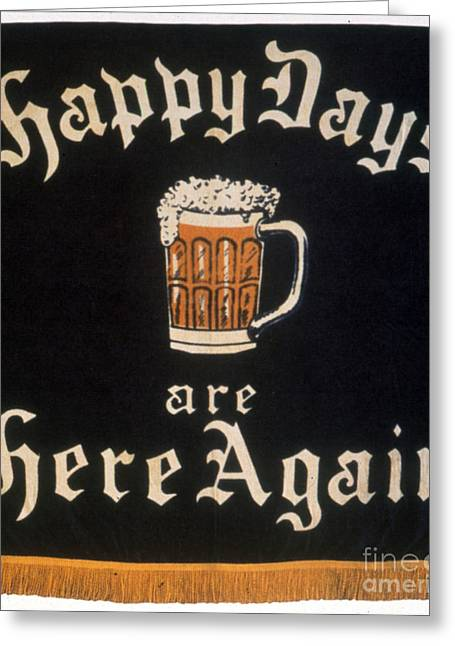 Democratic Party Greeting Cards - PROHIBITION: REPEAL, c1933 Greeting Card by Granger