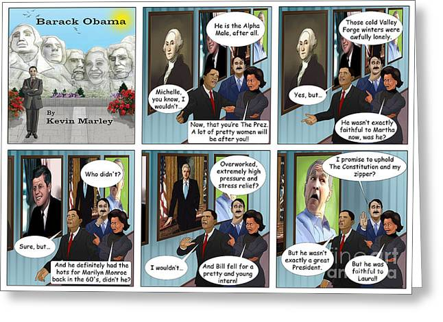 Michelle Obama Digital Art Greeting Cards - Promise to Uphold the Constitution and My Zipper Greeting Card by Kevin  Marley