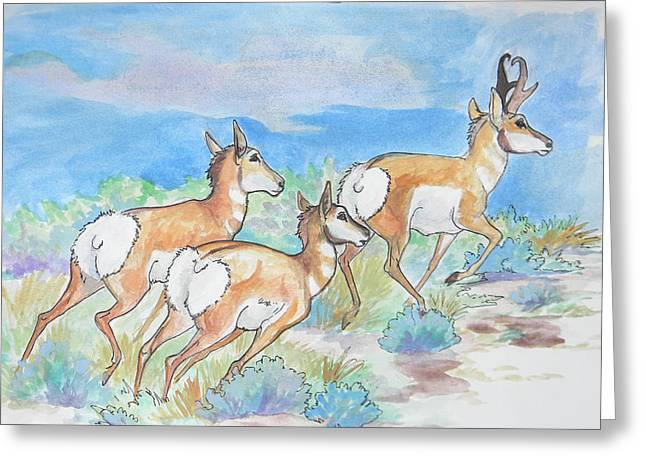 Jenn Cunningham Greeting Cards - Prongs Greeting Card by Jenn Cunningham