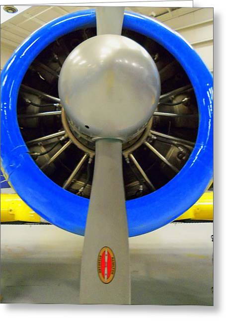 Airplane Engine Greeting Cards - Propeller Greeting Card by Randall Weidner