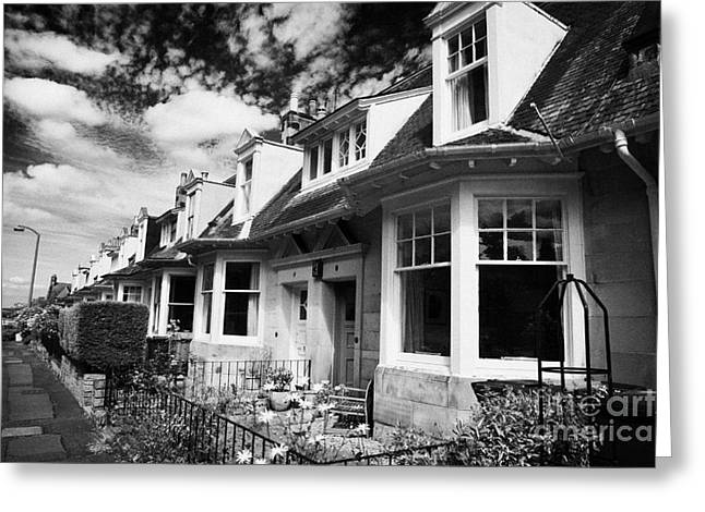 Desirable Greeting Cards - Properties On Craighouse Road In Residential Victorian Area Of Edinburgh Greeting Card by Joe Fox
