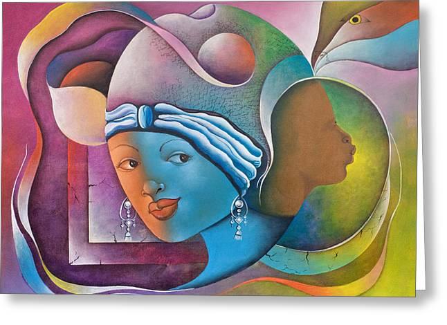 Haitian Paintings Greeting Cards - Prophetic Dream Greeting Card by Herold Alvares